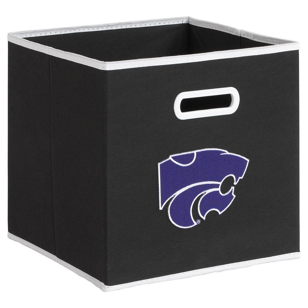 null College STOREITS Kansas State University 10-1/2 in. W x 10-1/2 in. H x 11 in. D Black Fabric Storage Drawer