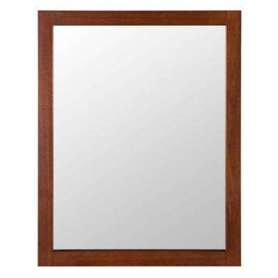 Townsville 24 in. W x 30 in. H Framed Wall Mirror in Walnut