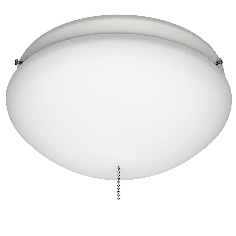 Hunter White Outdoor Ceiling Fan Globe Light