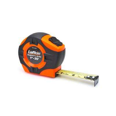 1 in. x 25 ft. Power Return Engineer's Tape Measure