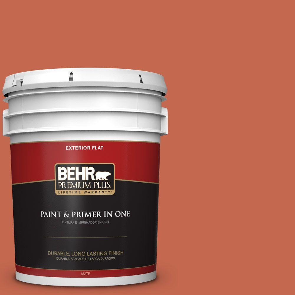 5 gal. #T16-14 Raw Copper Flat Exterior Paint