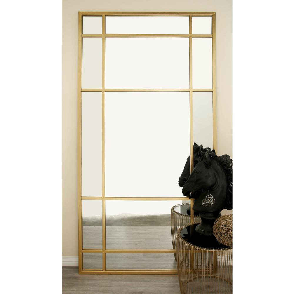 80 in x 40 in modern wall mirror with gold framed panels 27274 modern wall mirror with gold framed panels teraionfo