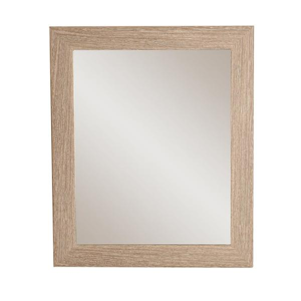 BrandtWorks Rich Rustic Rectangle Brown/White Decorative Wall Mirror AV36MED