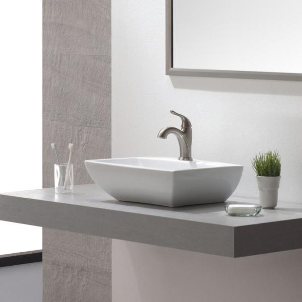 Kraus Arcus Single Hole Single Handle Bathroom Faucet In Satin Nickel Fus 1011sn The Home Depot