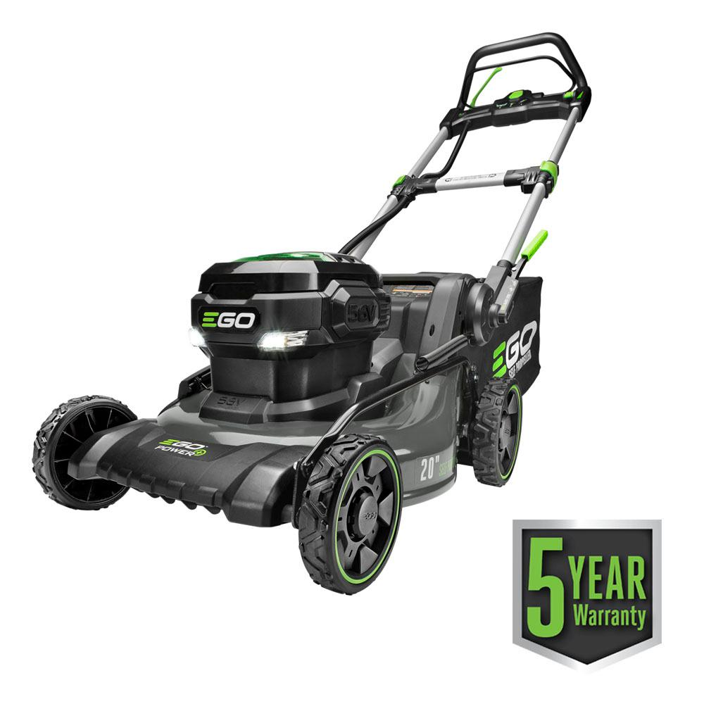EGO 20 in. (Brushless) Steel Deck Walk Behind-Self Propelled, Cordless Mower Kit - 7.5 Ah Battery/Charger Included