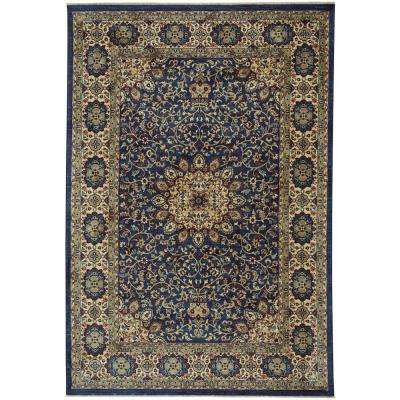 Anatolia-Medallion Teal 3 ft. x 5 ft. Area Rug