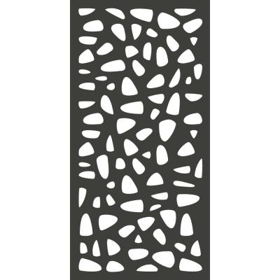 6 ft. x 3 ft. Charcoal Gray Modinex Decorative Composite Fence Panel Featured in the Stonewall Design