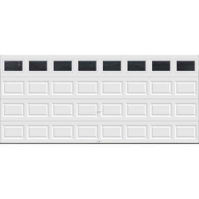 Clic Collection 16 Ft X 7 Non Insulated White Garage Door With
