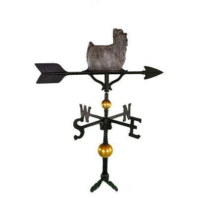 32 in. Deluxe Swedish Iron Yorkshire Terrier Weathervane