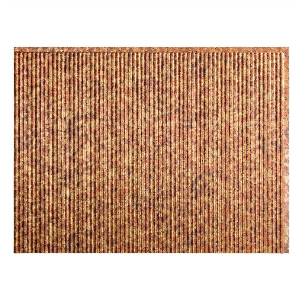 Fasade Rib 18 In X 24 In Cracked Copper Vinyl Decorative