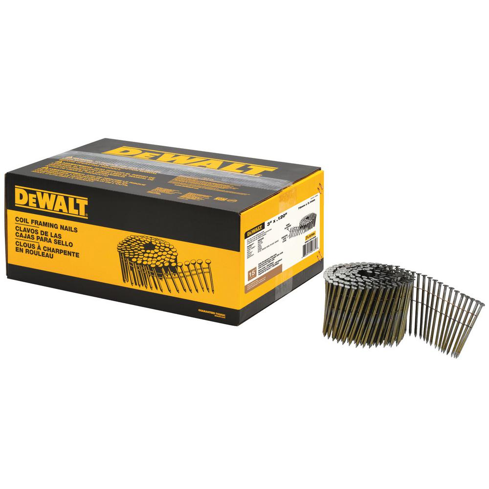 DEWALT 3 in. x 0.120 in. Metal Coil Nails 2700 per Box