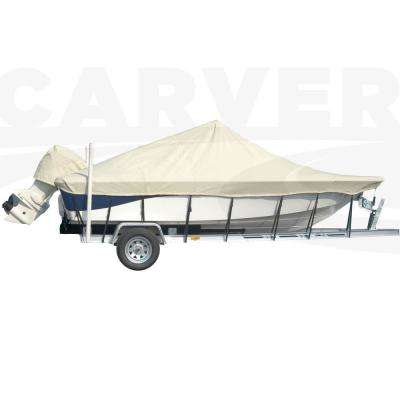 Styled-To-Fit Boat Cover For Center Console Bay Style Fishing Boats with Shallow Draft Hull, Centerline