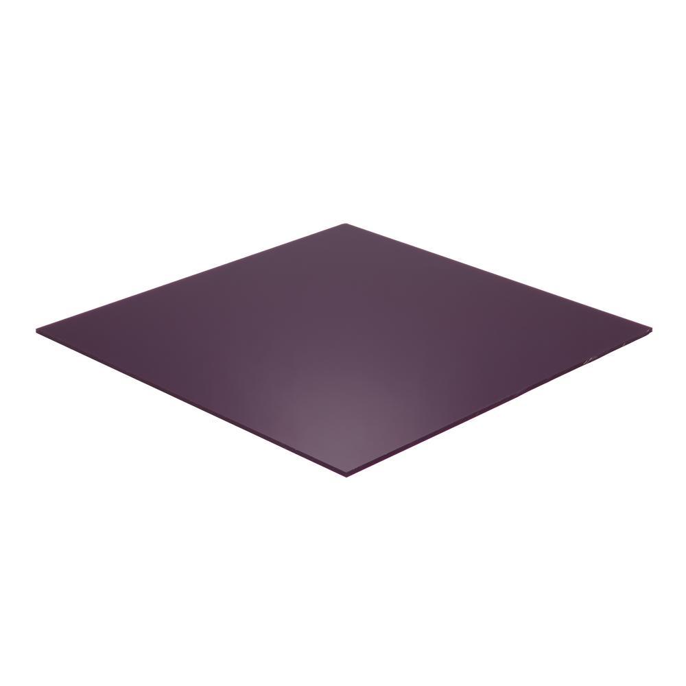 Falken Design 24 in. x 48 in. x 1/8 in. Thick Acrylic Plexiglas Lucite Purple 2287 Sheet