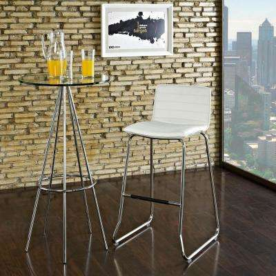 Dive 39 in. Bar Stool in White