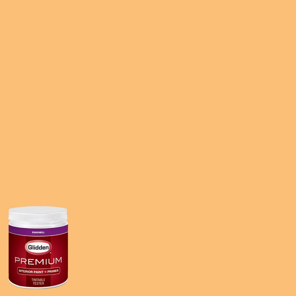 Glidden Premium 8 Oz Hdgo55 Citrus Punch Eggshell Interior Paint Sample With Primer Hdgo55p