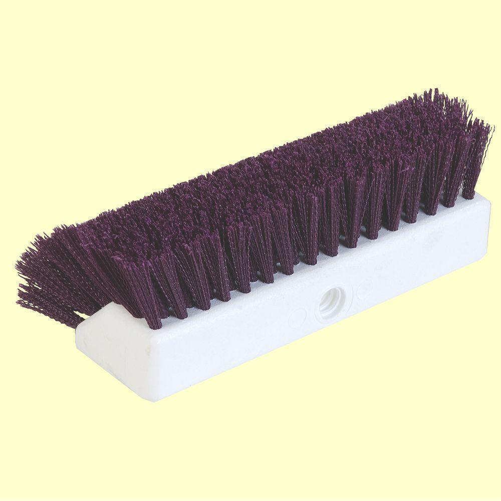 Carlisle 10 inch Purple Floor Scrub Brush (Case of 12) by Carlisle