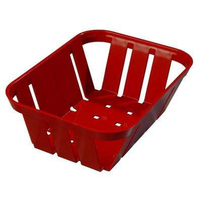 7.5 in. x 5.38 in. x 2.50 in. ABS Plastic Open Lattice Serving Basket in Red (Case of 24)