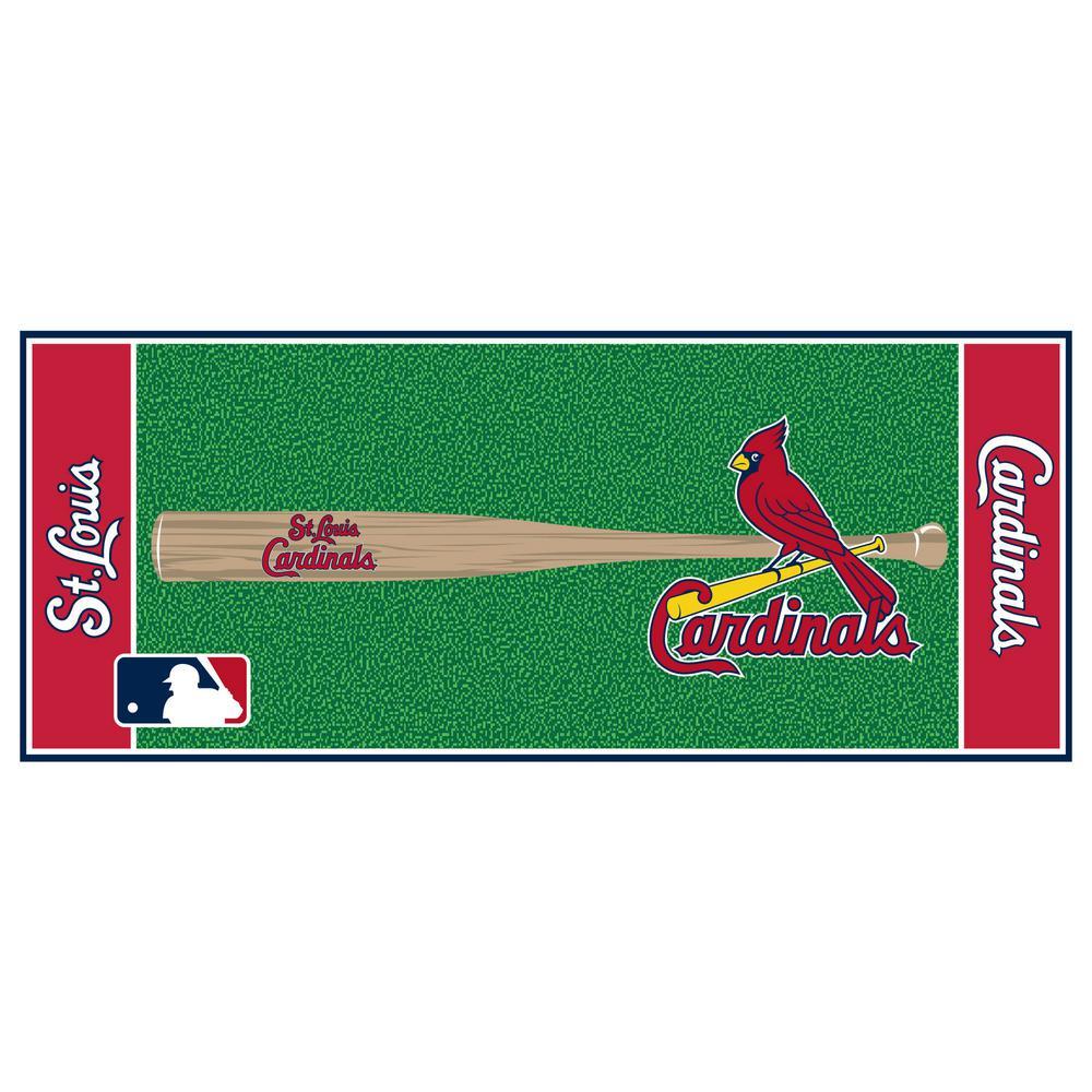 Fanmats St Louis Cardinals 2 Ft 6 In X 6 Ft Baseball
