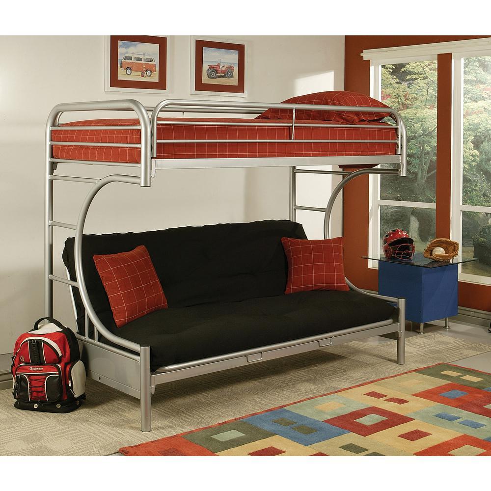 Acme Furniture Eclipse Twin Over Queen Metal Kids Bunk Bed