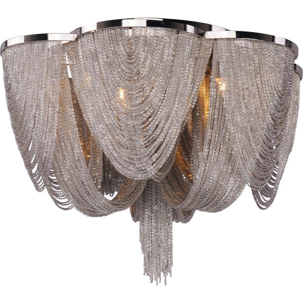 Chantilly 6-Light Polished Nickel Flush Mount