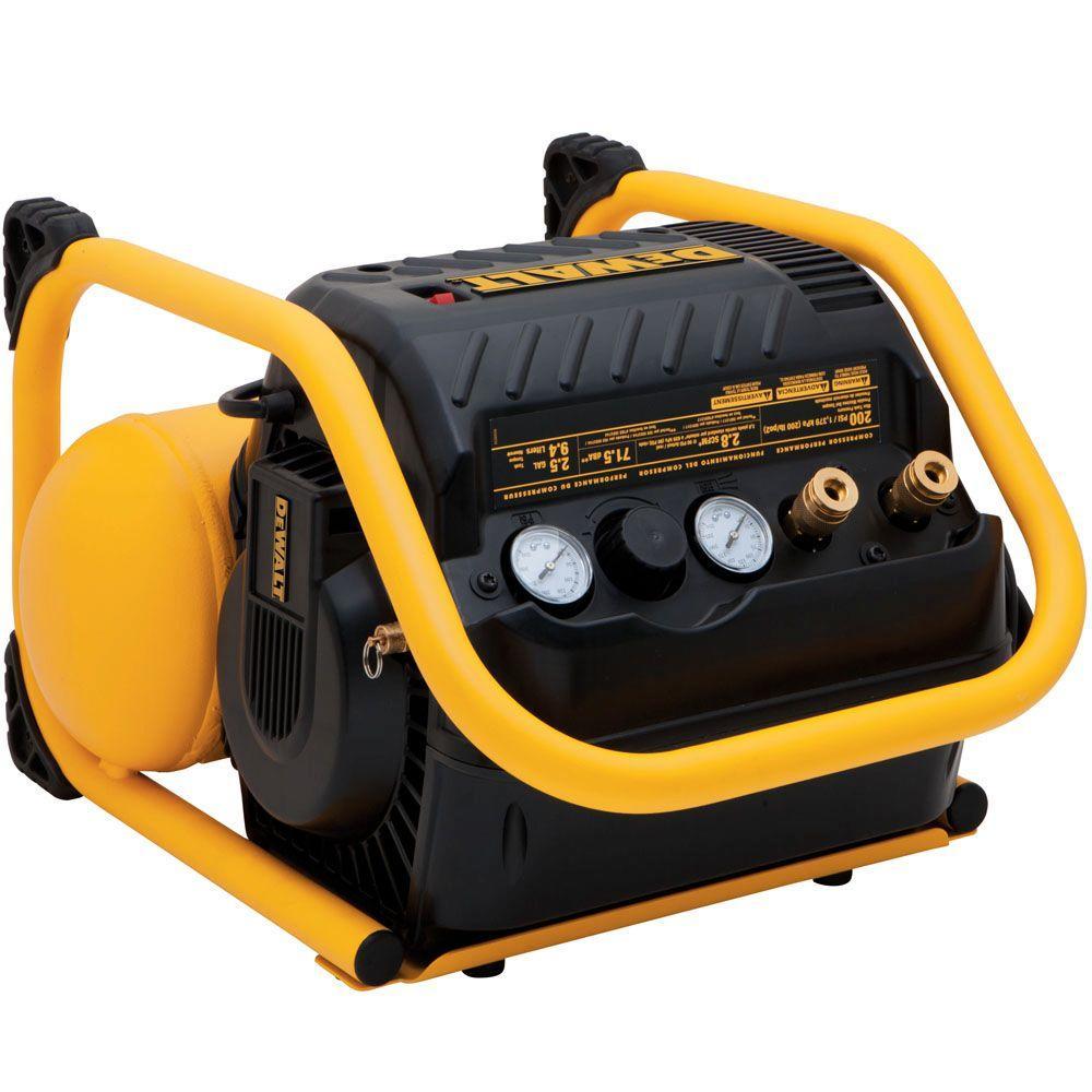 Dewalt 2.5 Gal. Portable Electric Heavy Duty 200 PSI Quiet Trim Air Compressor by DEWALT