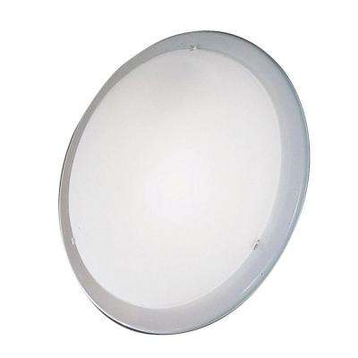 Planet 1-Light White Ceiling Semi-Flush Mount Light