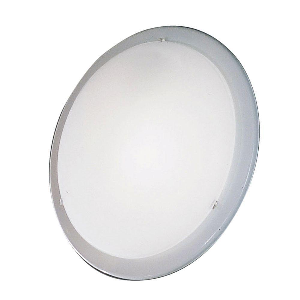 Planet 1-Light White Ceiling Semi-Flush Mount Light