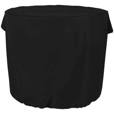 34 in. x 30 in. Heavy-Duty Black Round Air Conditioner Protective Cover