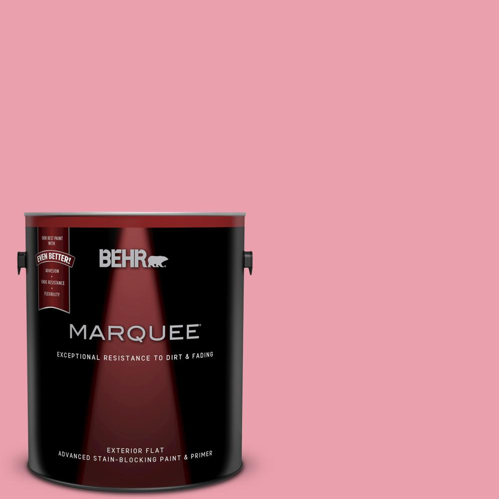 BEHR MARQUEE 1 gal. #P150-3 Pinque Flat Exterior Paint and Primer in ...