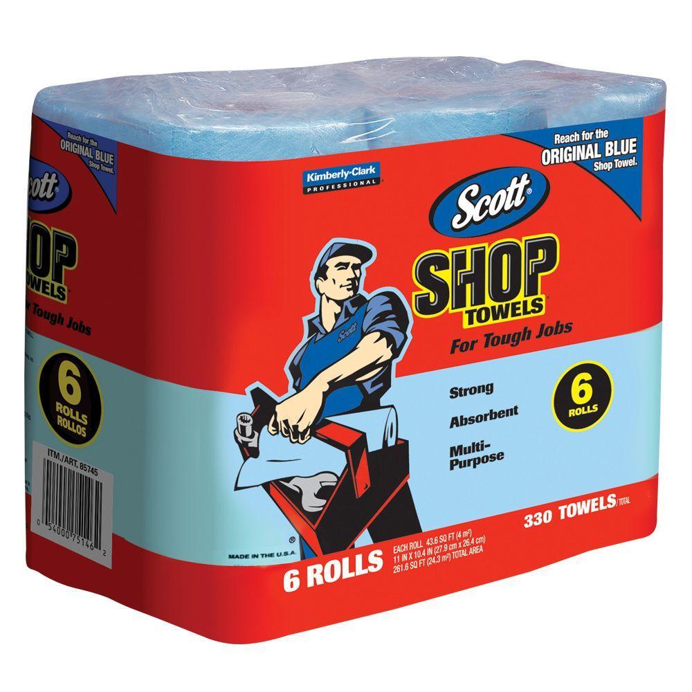 Scott Shop Blue Original Multi Purpose Paper Shop Towels 55 Sheets Per Roll