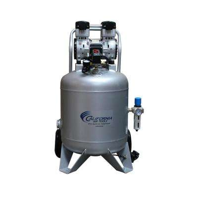30 Gal. Portable 2.0 HP Ultra-Quiet and Oil-Free Air Compressor with Automatic Drain Valve