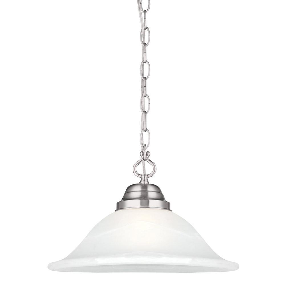 Design House Millbridge 1-Light Satin Nickel Swag Light Fixture