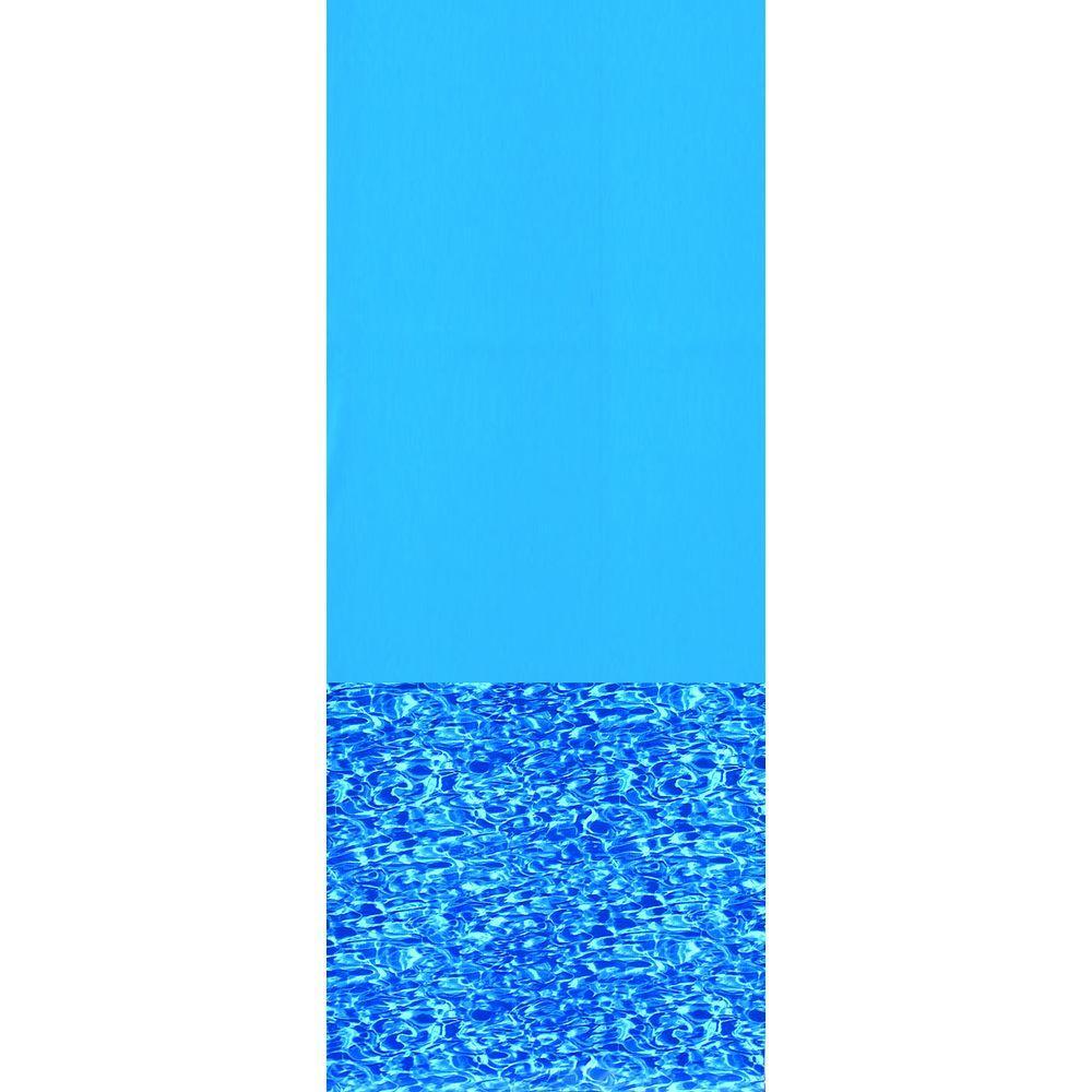 Swirl Bottom 15 ft. x 25 ft. Oval Overlap Pool Liner
