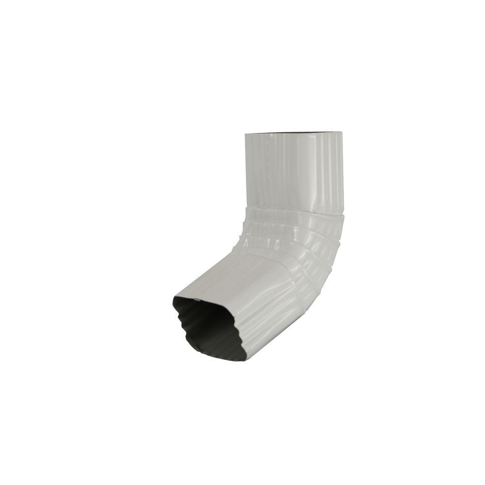 Amerimax Home Products 3 in. x 4 in. White Aluminum Downspout 80 Degree A Elbow