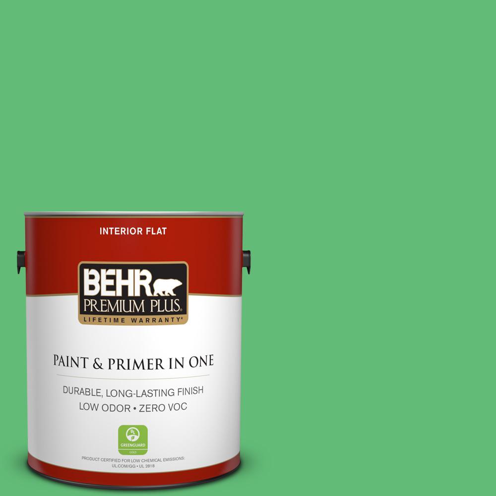 BEHR Premium Plus 1-gal. #450B-5 Lady Luck Zero VOC Flat Interior Paint