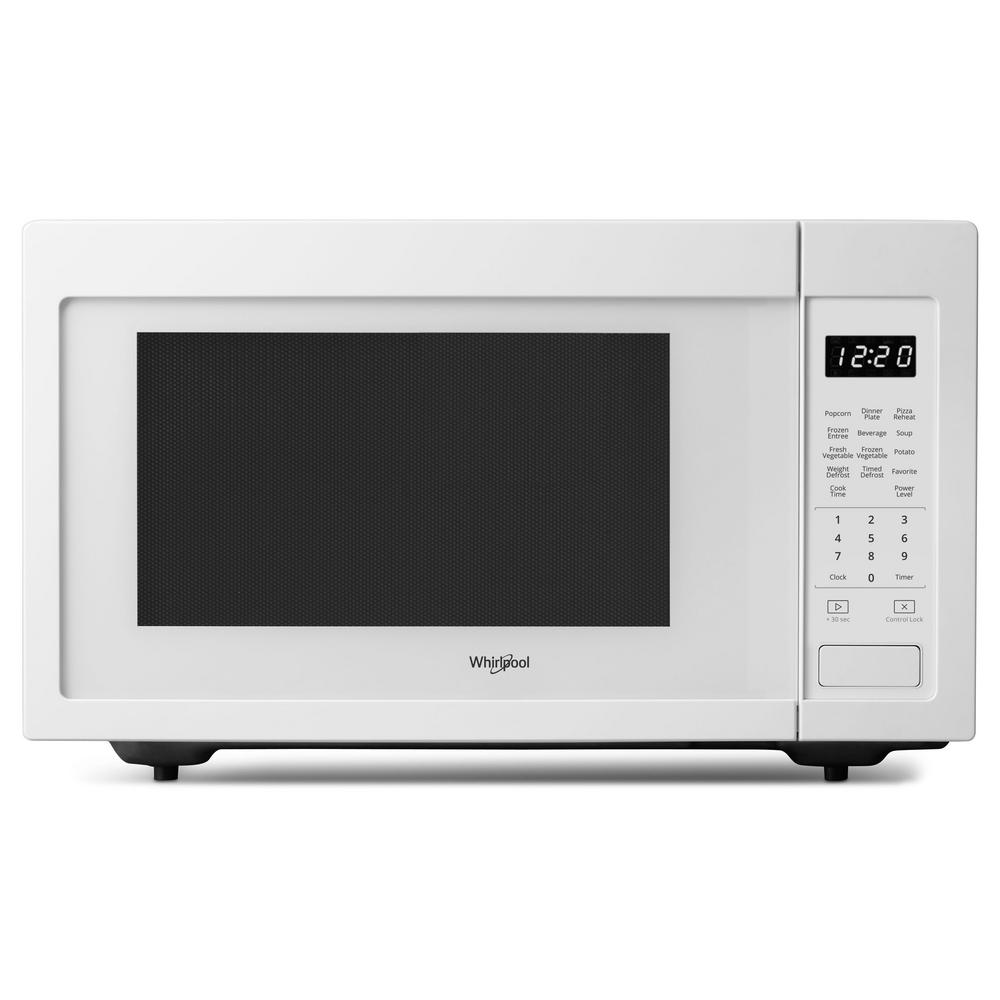 Whirlpool 1 6 Cu Ft Countertop Microwave In White With 200 Watt Cooking