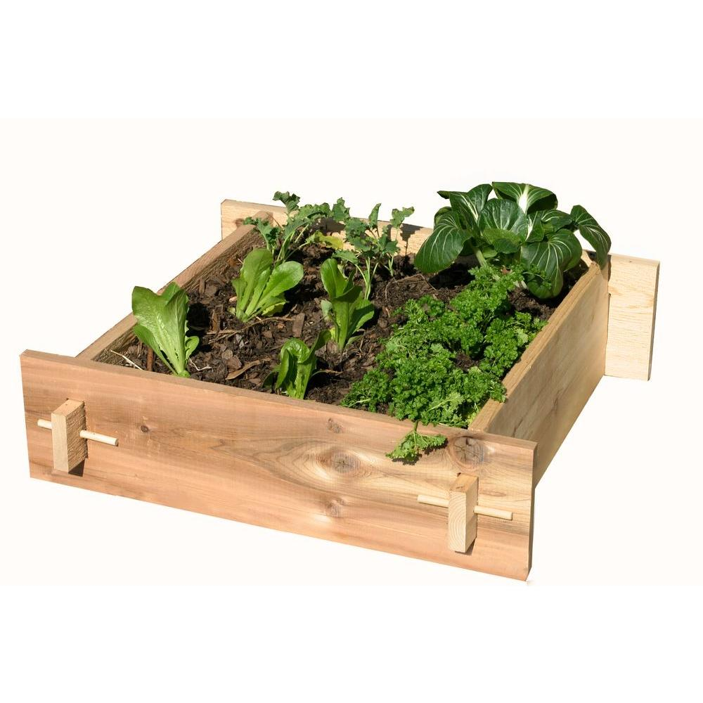 null 2 Ft. x 2 Ft. Shaker Style Raised Garden Box-DISCONTINUED