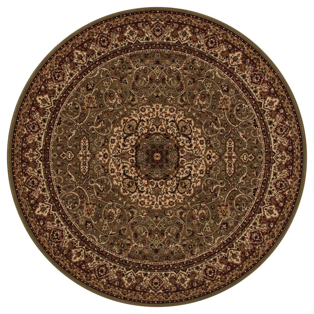 concord global trading persian classics isfahan green 5 ft 3 in round area rug 20350 the. Black Bedroom Furniture Sets. Home Design Ideas