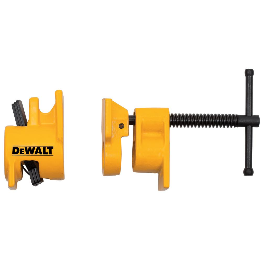 Dewalt 1 2 In 1000 Lb Pipe Clamp Fixture Dwht83836 The Home Depot