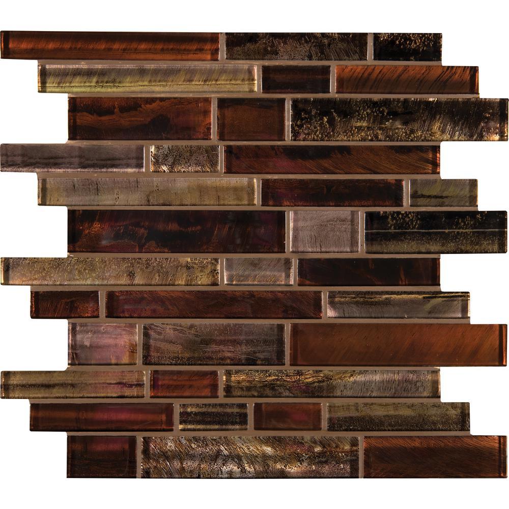 Msi Artista Interlocking 12 In X 8mm Gl Mesh Mounted Mosaic Tile Glsbil Art8mm The Home Depot