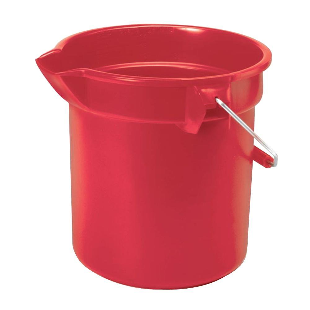 Rubbermaid Commercial Products Brute 10 Qt. Red Bucket