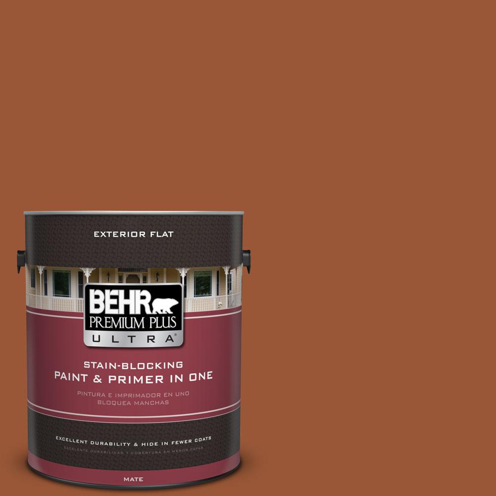 1-gal. #230D-7 Cinnamon Brandy Flat Exterior Paint