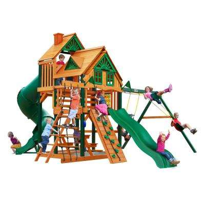 Great Skye I Treehouse Cedar Swing Set with Timber Shield Posts