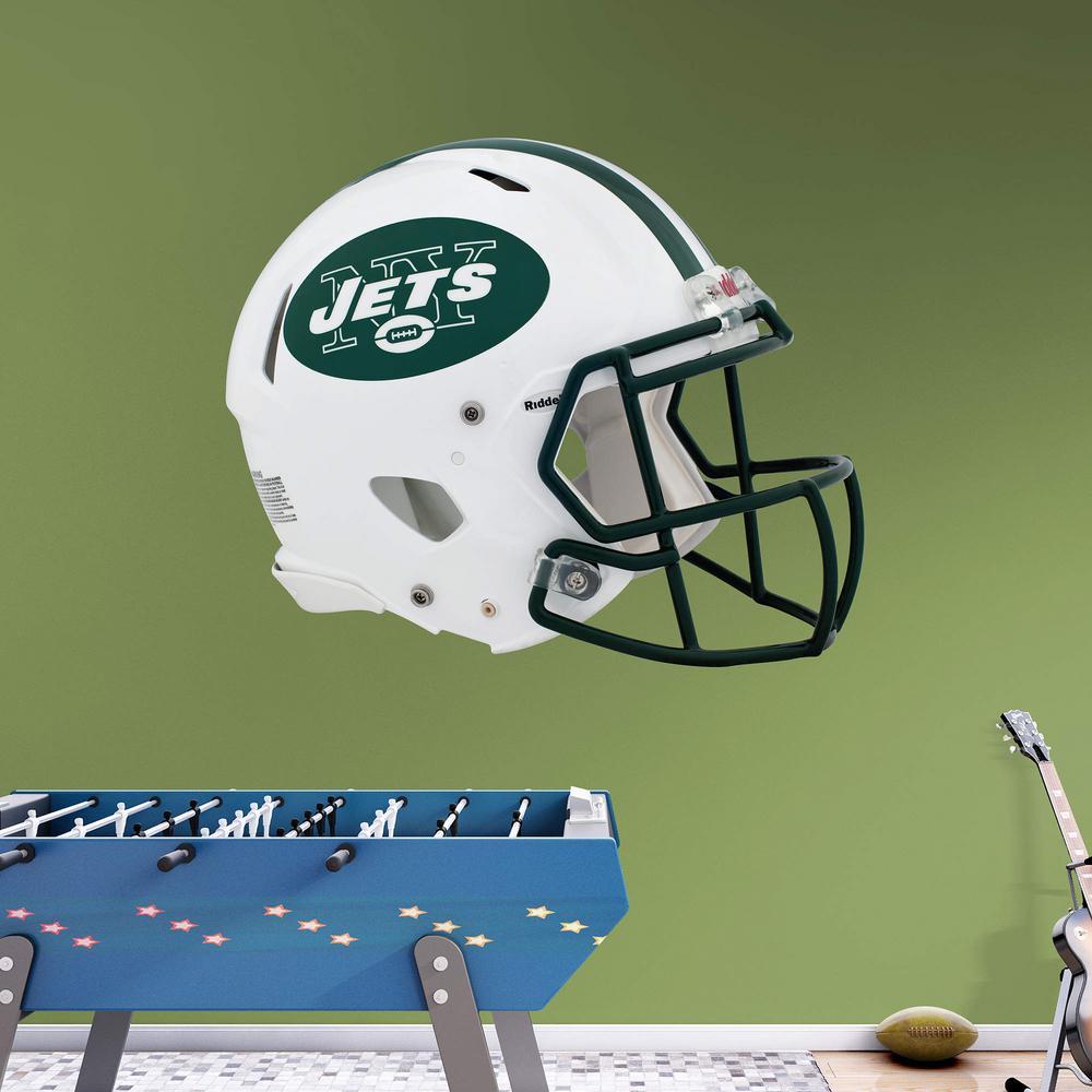 Internet  300043616. Fathead 45 in. H x 56 in. W New York Jets Helmet Wall  Mural b38ba3ee2