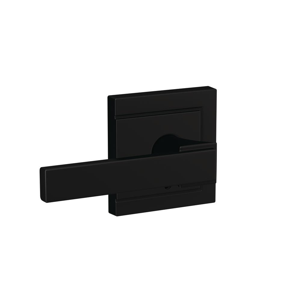 Schlage Custom Northbrook Matte Black Upland Trim Combined