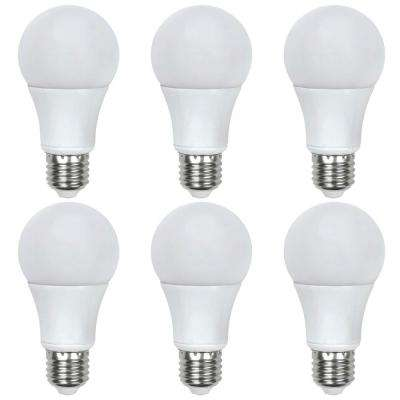 40-Watt Equivalent A19 Dimmable LED Light Bulb in Cool White (6-Pack)