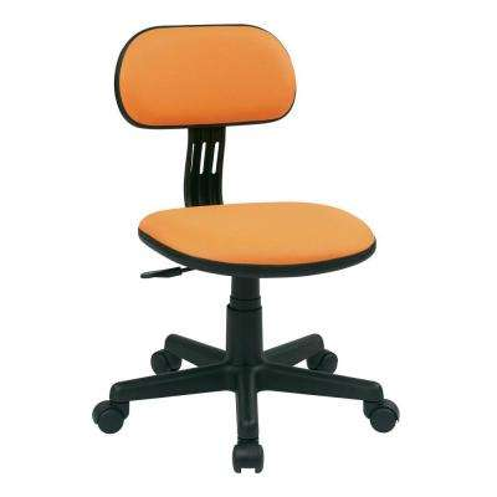 Orange Fabric Office Chair