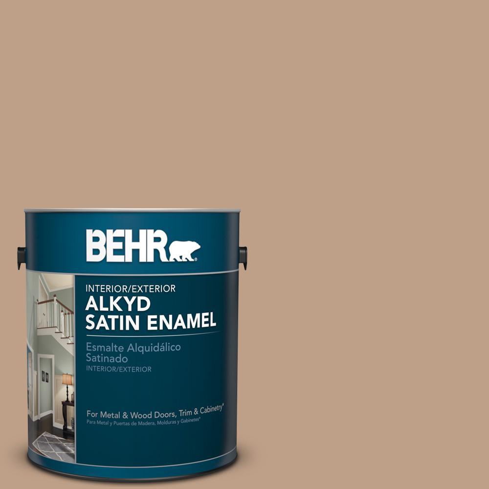 1 gal. #AE-10 Deer Brown Satin Enamel Alkyd Interior/Exterior Paint