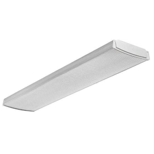 Contractor Select LBL4 4 ft. Dimmable 3500K Soft White Integrated 4200 Lumen LED Curved-Basket Wrap Light