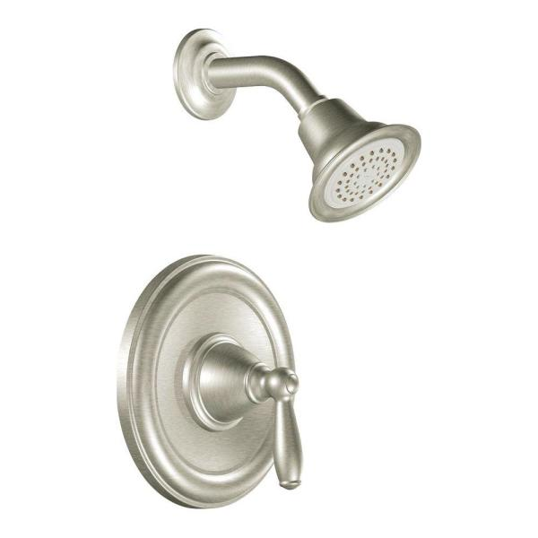 Brantford Single-Handle Posi-Temp Shower Only Trim Kit in Brushed Nickel (Valve Not Included)